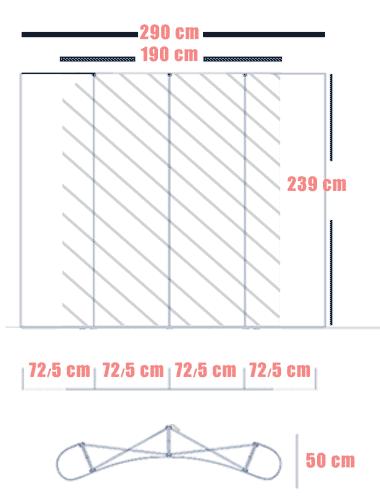 استند پاپ اپ 2-3 منحنی