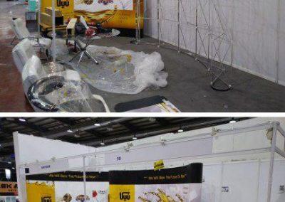 نصب و اجرای غرفه شرکت رزین سام تجارت